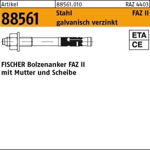 FISCHER-Ankerbolzen ART 88561 FISCHER-Ankerbolzen St./gal Zn FAZ II 8/ 10