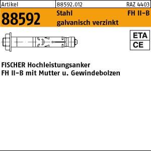 FISCHER-Dübel ART 88592 FISCHER-Hochleistungsanker gal Zn, FH II 10/ 10 B