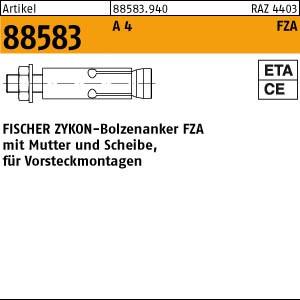 FISCHER-Zykon-Anker ART 88583 FISCHER-Zykon Anker FZA A 4 10 x 40 M 6/10 rostfrei