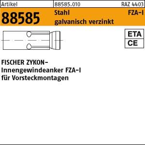 FISCHER-Zykon Anker ART 88585 FISCHER-Zykon-Innengew.-anker FZA-I 12 x 40 M 6 I gal Zn