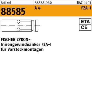 FISCHER-Zykon Anker ART 88585 FISCHER-Zykon-Innengew.-anker A 4 FZA-I 12 x 40 M 6 I