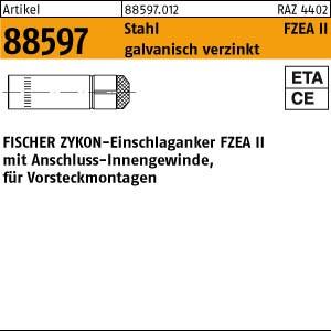 FISCHER-Zykon Anker ART 88597 FISCHER-Zykon Einschlaganker gal Zn FZEA II 10 x 40 M 8