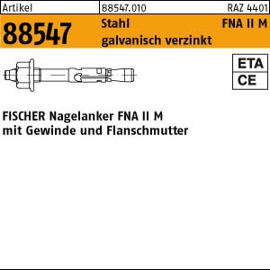 FISCHER-Dübel ART 88547 FISCHER-Nagelanker mit Gewinde FNA II 6 x 30 M 6/ 5