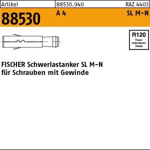 FISCHER-Schwerl.dübel ART 88530 FISCHER-Schwerlastdübel A 4 SL M 8 N 25 Stk.