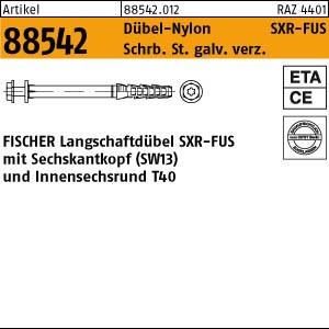 FISCHER-Rahmendübel ART 88542 FISCHER-Rahmendübel SXR 10 x 60 FUS