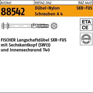 FISCHER-Rahmendübel ART 88542 FISCHER-Rahmendübel SXR 10 x 60 FUS A4