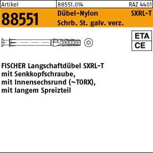 FISCHER-Langschaftdüb. ART 88551 FISCHER-Langschaftdübel SXRL 8 x 80 T