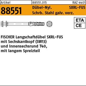 FISCHER-Langschaftdüb. ART 88551 FISCHER-Langschaftdübel SXRL 8 x 80 FUS