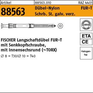 FISCHER-Rahmen-Dübel ART 88563 FISCHER-Universal Rahmendübel FUR 10 x 80 -T gal Zn