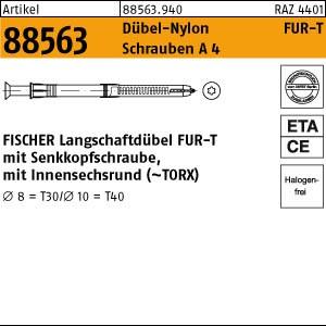 FISCHER-Rahmen-Dübel ART 88563 FISCHER-Uni. Rahmendübel A 4 FUR 10 x 80 -T
