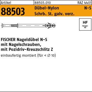 FISCHER-Nageldübel N ART 88503 FISCHER-Nageldübel N-S 5 x 30 -Z