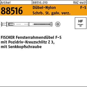 FISCHER-Fensterr.Dübel ART 88516 FISCHER-Fensterrahmendübel F 8 S 100