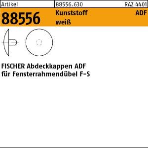 FISCHER-Abdeck-Kappen ART 88556 FISCHER-Abdeckkappen ADF 12 weiss, für Rahmendübel F-S