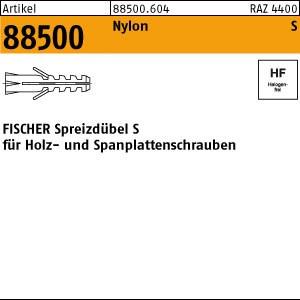 FISCHER-Dübel S ART 88500 FISCHER-Dübel Nylon S 4 200 Stk.