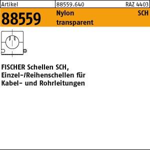 FISCHER-Schellen ART 88559 FISCHER-Schellen weiss/transparent SCH 1623 50 Stk.