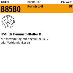 FISCHER-Dämmstofftel. ART 88580 FISCHER-Dämmstoffteller Kunststoff DT 90/4 250 Stk.