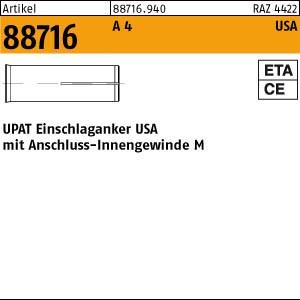 UPAT-Schlaganker ART 88716 UPAT-Schlaganker A 4 USA M 6 - N