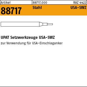 UPAT-Setzwerkzeug ART 88717 UPAT-Setzwerkzeuge Stahl M 6 für USA - Schalganker