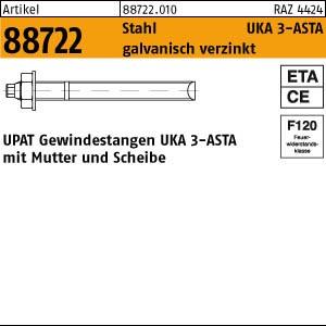 UPAT-Ankerstangen UKA3 ART 88722 UPAT Ankerst. M 8 x 110 St. 52, gal Zn 10 Stk.