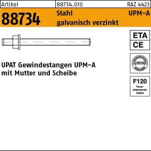 UPAT-Ankerstangen ART 88734 UPAT Ankerstangen UPM-A St. Zn M 6 x 75 20 Stk.
