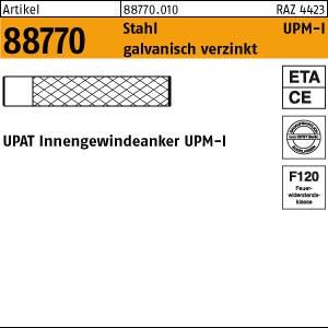 UPAT Innengewindeanker ART 88770 UPAT Innengewindeanker Stahl gal Zn UPM-I 6
