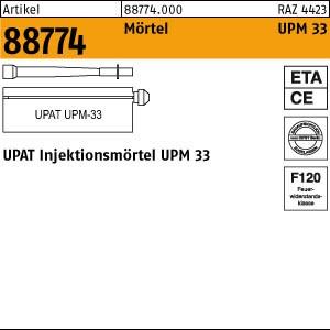 UPAT Injektionsmörtel ART 88774 UPAT Injektionsmör. UPM 33-300 (1 Kart. a 300ml, 2 Statikm.) 12 Stk.