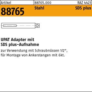 UPAT-Adapter ART 88765 UPAT Adapt. SDS-plus 1/2 VK f. UKA3/UMV M 8-M 16 1 Stk.