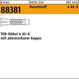 TOX-Dübel 4 ART 88381 TOX - Dübel 4 AS K 6 x 28 Kunststoff 100 Stk.