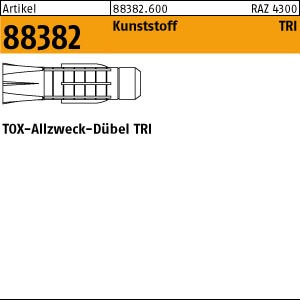 TOX-Allzweck-Dübel ART 88382 TOX - Dübel TRI 5 x 31 Kunststoff 100 Stk.