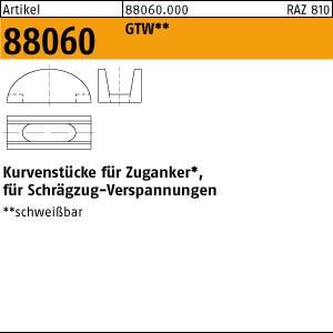 Kurvenstücke ART 88060 Kurvenstücke M 12 + M 16 GTW, für Zuganker