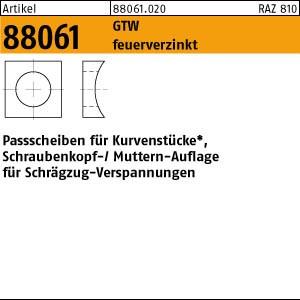 Paßscheiben ART 88061 Paßscheibe GTW M 12 30x13x10 feuerverzinkt tZn 1 Stk.