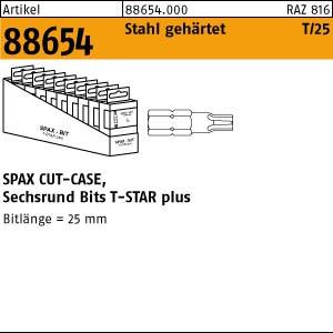 Bit T-Star Plus ART 88654 SPAX Cut-Case Bit T10+ SW 1/4 x 25