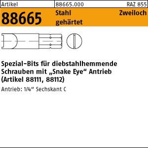 Spezial-Bits ART 88665 Bits f. Zweilochschr. Aufn.1/4 f. M 3 SP - 4